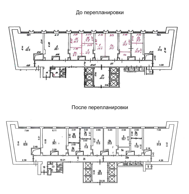 Проект перепланировки нежилых помещений